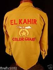 "RARE 1950'S GABARDINE  ""EL KAZAR COLOR GUARD"" SHIRT"