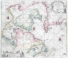 Reproduction carte ancienne - Canada et Groenland en 1684