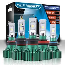 NOVSIGHT H4/H7/H11/9005/9006 60W CREE LED Headlight Light Bulbs Kit 6500K White