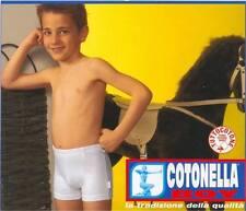 *ATHELIERCORTEZ* COTONELLA BOY BOXER BAMBINO PURO COTONE 4-1Oa AZZURRO SCO-50%