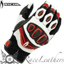 Richa Turbo Schwarz Rot Sommer Lightweight Motorrad Motorrad Handschuhe