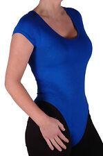 Para mujeres Mangas Cortas Escote Redondo Llano Cuerpo Leotardo Blusa Prendas para el torso informales de ajuste elástico