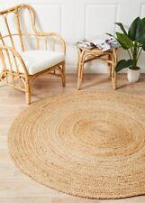 ALISON JUTE RUG ROUND NATURAL Circle Beige Floor mat Carpet Large FREE POST*
