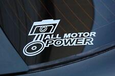ALL MOTOR Sticker Decal Vinyl JDM Euro Drift Lowered illest Fatlace