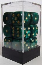 Paquete De 12 Perla Verde Dados - 6 Lados & 15mm Lados!!