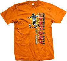 Germany Play Hard German Soccer Player World 2014 Champions DEU DE Men's T-Shirt