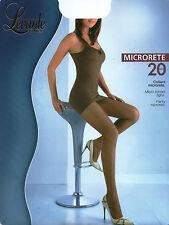 3 COLLANT calza MICRORETE 20 den naturel nero M-L-XL 2-3-4 PEZZI 3