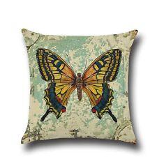 Home sofa pillowslip Linen Retro butterfly Throw Pillow Case Cushion Cover