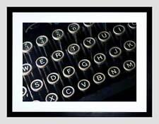 Foto dettagli antico retrò vintage macchina da scrivere TASTIERA incorniciato stampa b12x13295