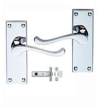 Chrome Door Handles Handles + Latch Sets Victorian Scroll Internal Doors