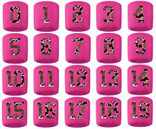 #0-19 Number Sweatband Wristband Lacrosse Softball Volleyball Pink Python Snake