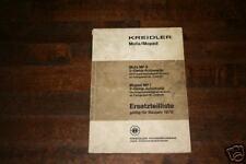Teilekatalog Kreidler Mofa + Moped - Stand 1970