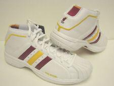 NEW Mens ADIDAS Pro Model 2G Miami HEAT 674293 NBA White Team Sneakers Shoes