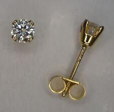 1/4CT GENUINE DIAMOND STUD EARRINGS YELLOW GOLD