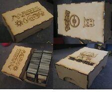 TRADING CARTE boîtes 250 rangement strong MDF images sur POKEMON MTG Yugioh