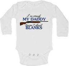 I'm Prueba My Daddy No Shoot En Blanco Personalizado De Manga Larga Bebé