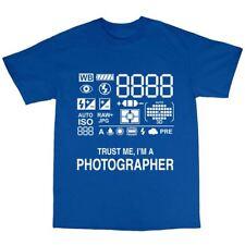 Photographer Camera T-Shirt Premium Cotton Photography Gift Present Funny