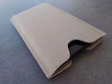 OnePlus One Leder Handytasche beige Case Hülle Etui Pouch bag Cover WUNSCHGRAVUR