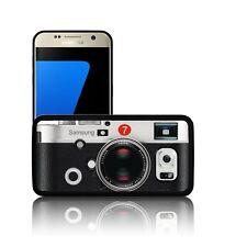 'Retro Cámara' Funda De Silicona Para Teléfono Samsung Galaxy Cubierta De Gel de goma negro