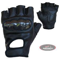 Chopperhandschuhe mit Protektor fingerlose Leder Biker Chopper Handschuhe S-XXL