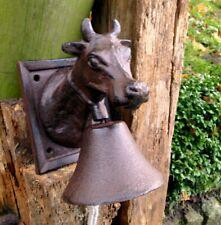 Glocke mit Kuh - Gartenglocke, kunsthandwerklich-ländliche Türglocke