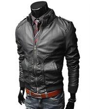 Giacca Giubbotto in di Pelle Uomo Men Leather Jacket Veste Blouson Homme Cuir N4