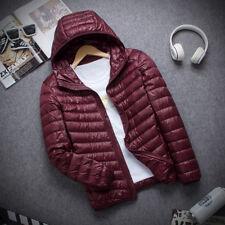 Ultralight Hoodie Down Men's Packable Jacket Winter Hooded Puffer Outerwear Coat
