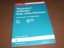 Werkstatthandbuch VW Golf I Diesel Einspritzanlage / Vorglühanlage