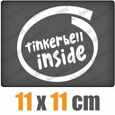 Tinkerbell inside csf0440 11 x 11 cm JDM  Sticker Aufkleber