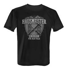 Hausmeister Herren T-Shirt Fun Shirt Spruch Hauswart Facility Manager Beruf Job