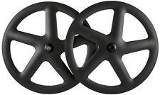 700C Five Spoke Bicycle Wheel Road Bike/Track/Fixie Gear Carbon Wheelset 5 Spoke