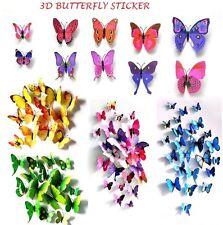 3D Mariposa Pegatinas De Pared Arte Calcomanía Decoración para el Hogar Habitación Decoración Niños 12 piezas.