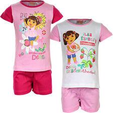 Pyjama Set Schlafanzug Mädchen Nickelodeon DORA rosa pink 98 104 116 128 #147