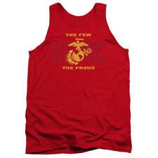 Marines ~ The Few The Proud Tank Top T Shirt Beater Marine CORPS USMC OOH-RAH
