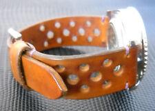 Cinturino sport racing vintage 22 mm vera pelle-Watch strap Handmade in Italy