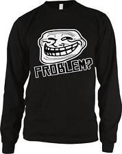 Troll Face Problem? Mad Bro Meme Joke Funny Humor Nerd Geek Long Sleeve Thermal