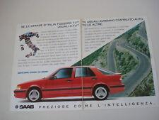 advertising Pubblicità 1990 SAAB 9000 TURBO 16 SPORT