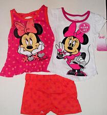 Disney Muy Lindo Minnie Mouse Pantalones Cortos Y T-Shirt Outfit 6 meses nuevo con etiquetas