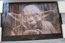 Poster YODA 1997 vintage Photomosaic 36x24 inch Star Wars collectible UNUSED