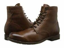 Men Handmade lace up vintage Brown ankle boot Men antique brown Biker  Boot