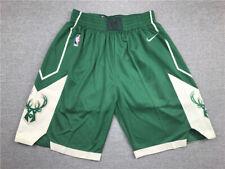 New Adult Size Green Color Milwaukee Bucks Shorts S M L XL XXL
