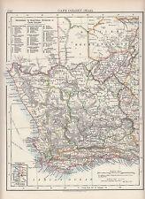 1897 Vittoriano MAP ~ COLONIA DEL CAPO occidentale ~ riferimento alle divisioni elettorali