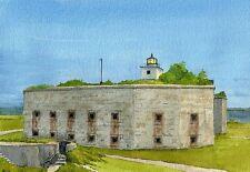 Clarks Point Lighthouse Fort Taber New Bedford Massachusetts Notecards