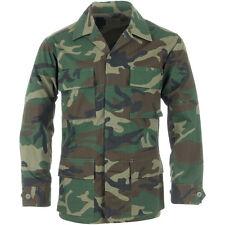 DEFECT H/C TEMP. AUTHENTIC BATTLE DRESS UNIFORM WOODLAND BDU JACKET Hunting US