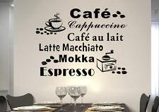 WandTattoo Wandsticker WandSpruch CAFE COFFEE KAFFEE Mühle KÜCHE KF05