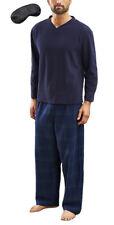 Men's Newquay Chaud Hiver Pyjama Set Avec Masque Yeux