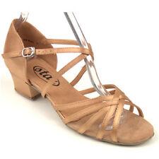 "167001 1.5"" Low Cuban Heel Flesh Fine Quality Ballroom Latin Dance Shoes Sz5-10"