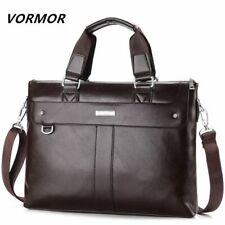 Men Casual Briefcase Business Shoulder Bag Leather Messenger Bags Laptop Handbag