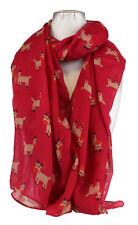 Chal de Invierno para Mujer Bufanda larga feliz Rudolph ciervos Suave de Chiffón Regalo De Navidad