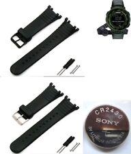 Rubber silicon band bracelet FITS SUUNTO Vector Advizor & 3V CR2430 battery